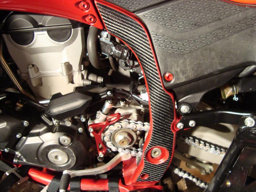Yfz450r X Real Carbon Fiber Frame Guards Yamaha Yfz450