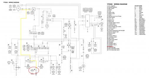 Need Help Installing 06 Headlight Resistor On 05 Updated Yamaha Rhyfzcentral: 2007 Yamaha Yfz 450 Schematics At Gmaili.net