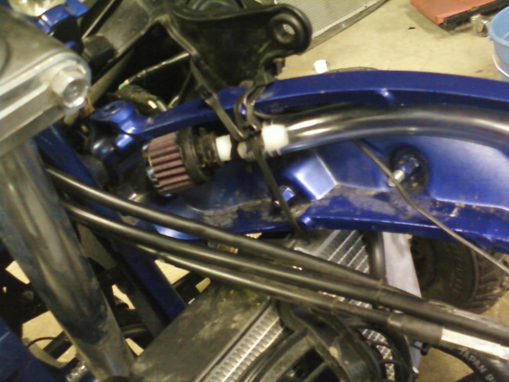 My 450r crankcase breather mod/black box mod - Yamaha YFZ450