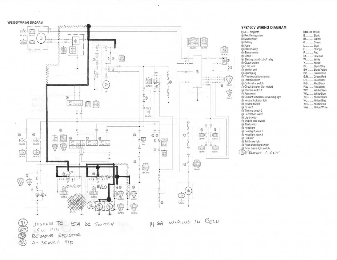 2008 yfz 450 wiring diagram 2008 wiring diagrams description yfz wiring diagram