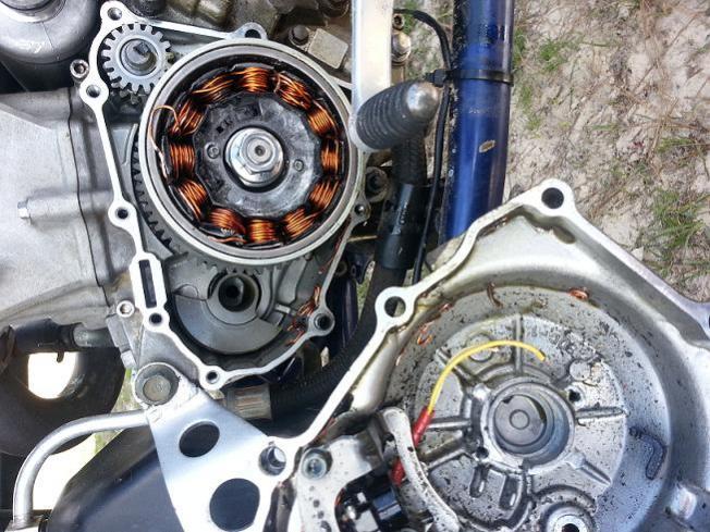 Yfz wont start? starter just free spinning - Yamaha YFZ450